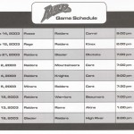 2003 Game Schedule