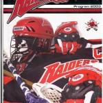 Raiders 2003 Program Cover